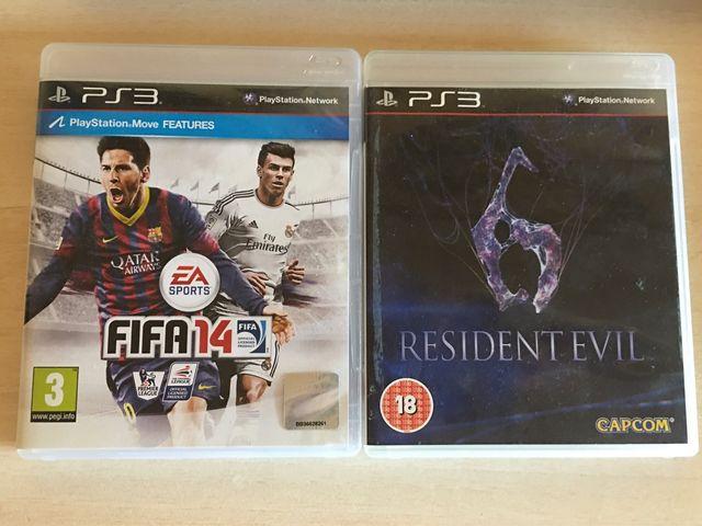 Juegos PS3: Fifa 14 y Resident Evil 6