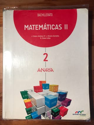 Libro de Matemáticas II para 2 de bachillerato