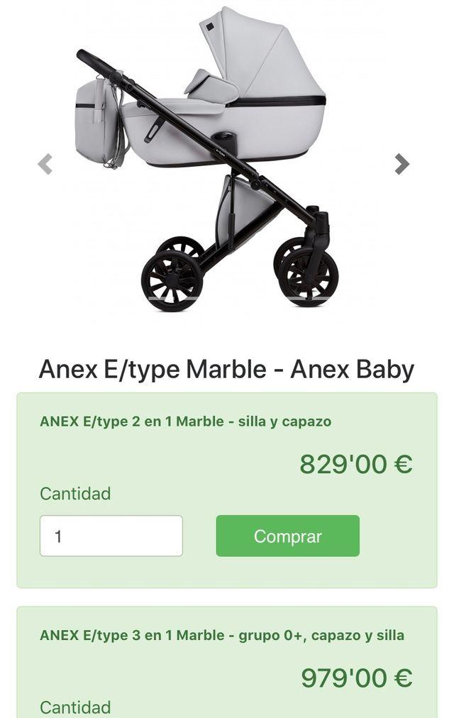 Cochecito bebé Anex cross 3 en 1 buen estado