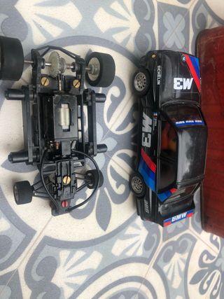 Scalextric bmw m3 y chasis ref. 7153 motores giran