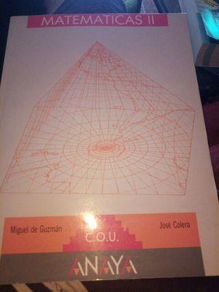 libro matematicas II cou anaya
