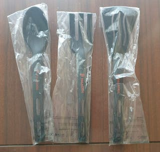 3 utensilios de plástico de cocina