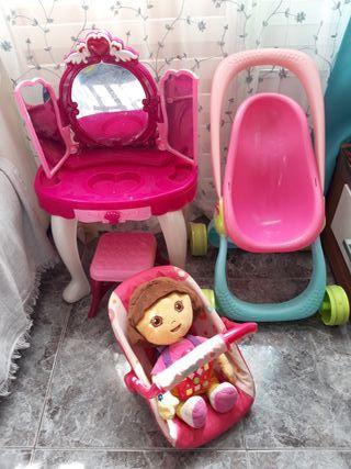 lote juguetes para niña tocador dora exploradora