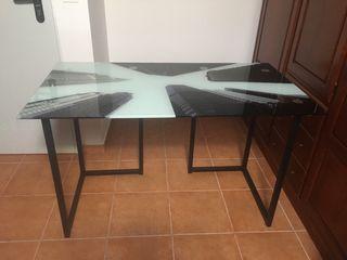 Mesa escritorio cristal