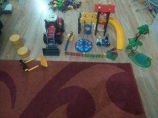 parque y tractor playmobil