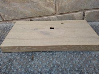 Encimera de madera mueble baño