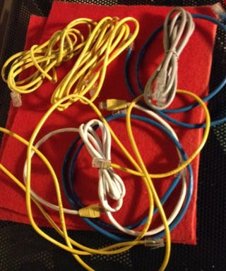Cables de red LAN. Cables para router