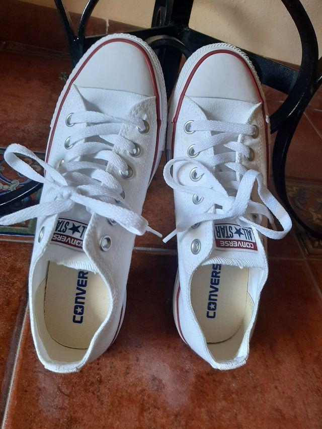 zapatillas mujer converse blancas