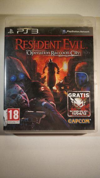 Resident Evil Operation Raccoon City PlayStation 3