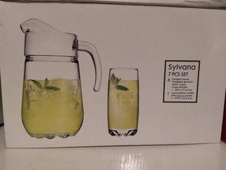 Set de 6 vasos y una jarra