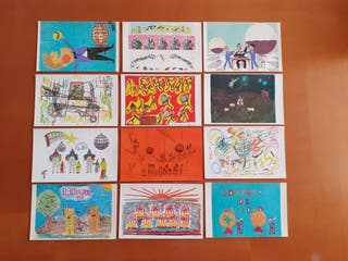 postales serie F completa