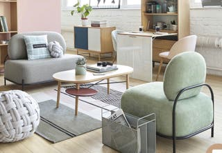 Sofá de diseño.