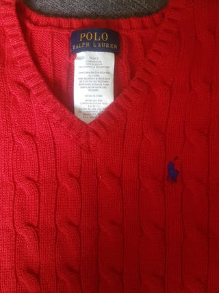 Chaleco Polo Ralph Lauren rojo talla 5