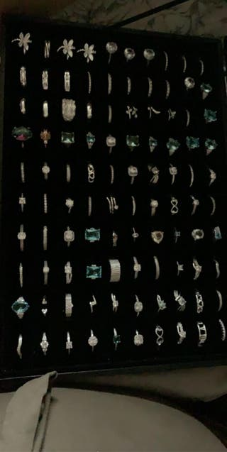 925 silver rings in a variety of sizes