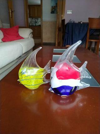 Peces de cristal de decoración