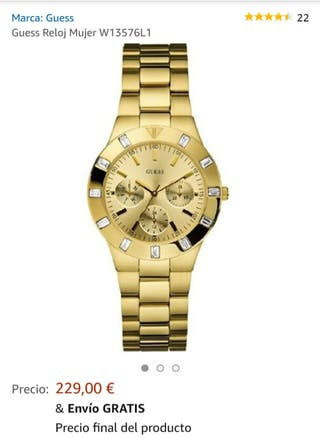 Reloj Guess Dorado