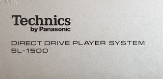 PLATO TECHNICS BY PANASONIC SL-1500 DIRECT DRIVE
