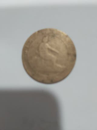 Moneda antigua 10 céntimos 1870