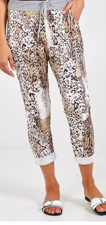 Animal print cotton joggers BNWT