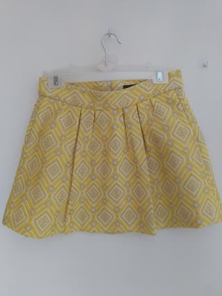Falda amarilla Zara