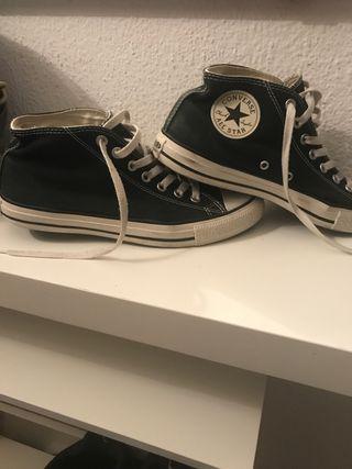 Converse negras tipo bota