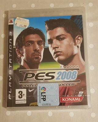 PES 2008 PS3 Precintado