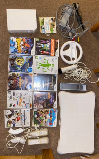 Wii Console + Games + Accessories