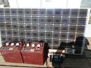 Equipo solar 2 baterias, 1 placa y 1 regulador