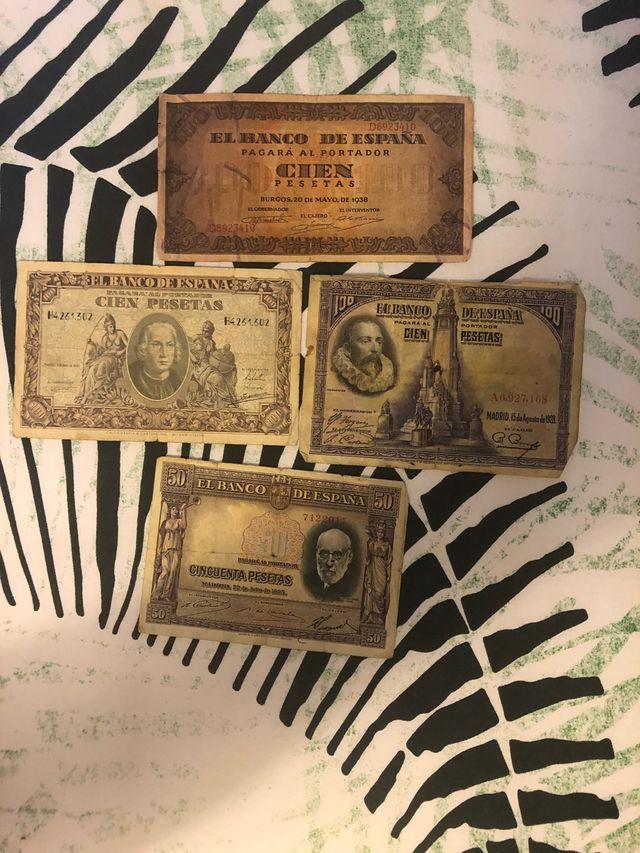 Billetes pesetas antiguos