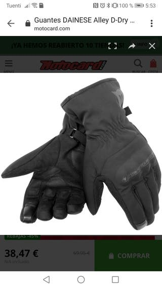 GUANTES moto DAINESE mujer TALLA S