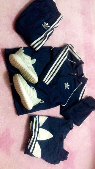 Chandal bebé Adidas y bambas Adidas