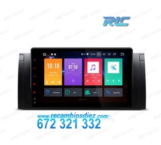 "RADIO NAVEGADOR ANDROID 8.0 OREO 9"" BMW X5 E53 USB"