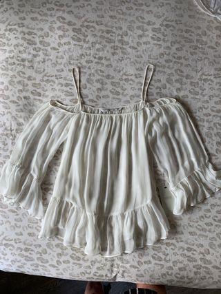 Blusa gasa blanca