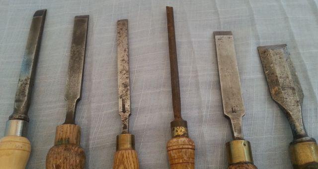 Formones de maestro carpintero. 6 herramientas.