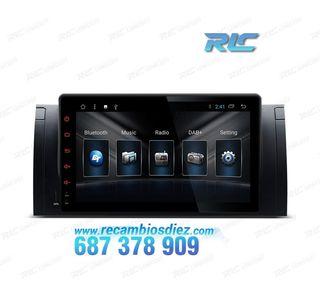 "RADIO NAVEGADOR ANDROID 8.1 OREO 9"" BMW X5 E53 USB"