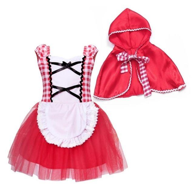 vestido niña bebé nuevo Caperucita Roja 2/3 años