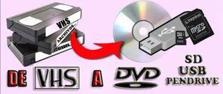 Se Digitalizan VHS y VHS-C a USB o SD