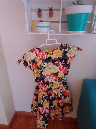 precioso vestido estampado talla 10