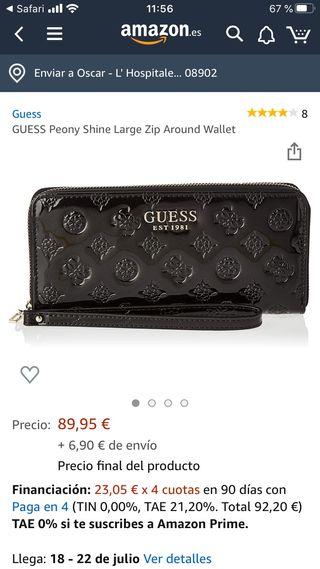 Monedero cartera GUESS .