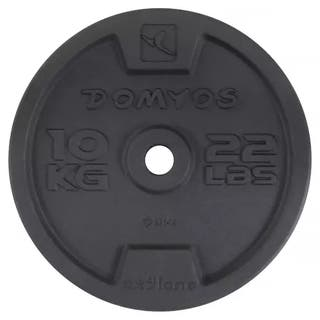2 Discos 10kg peso domyos Decathlon