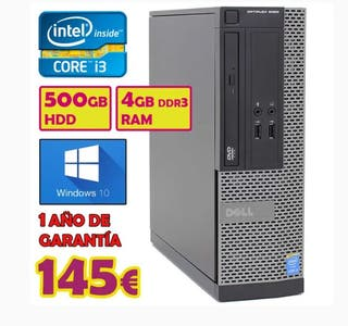 TORRE PC DELL INTEL I3 + 500GB HDD + 4GB RAM