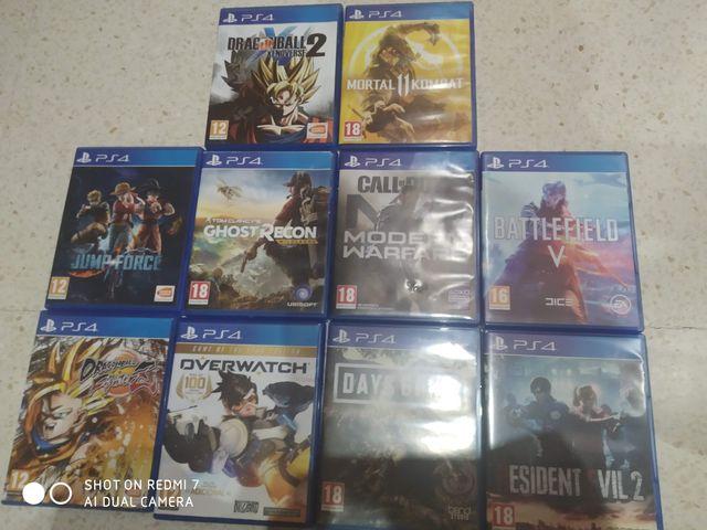 Lote de Videojuegos de Ps4/Consultar precio e Info