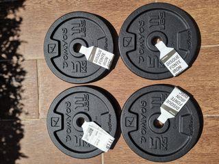 Discos de 5 Kg de hierro fundido marca domyos