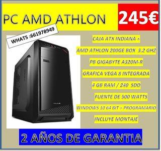 PC AMD ATHLON 200GE 3.2 GHZ NUEVO CON GARANTIA