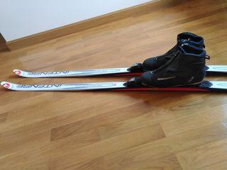 Esquís de fondo. Equipo completo