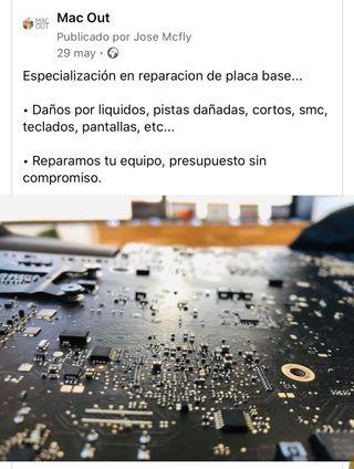 Reparaciones de placa base en EQUIPOS APPLE