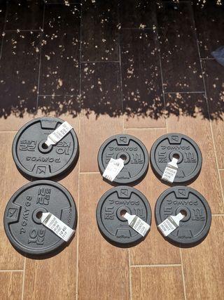 Discos de pesas domyos hierro fundido 40 Kg