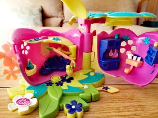Polly Pocket Casita flor de hadas plegable