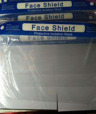 4 Protectores para la cara. Visera ajustable.