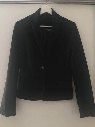 Blazer negra de algodón